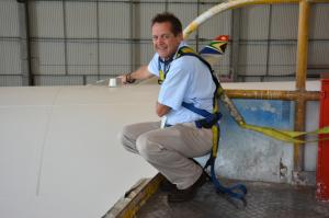 Paul Roux MD of SatAuth at Satellite tracking installation on South Africa Airways 4