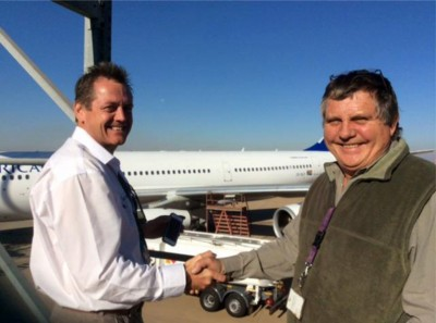 SatAuth Satellite tracking for planes installation onboard South African Airways Airbus A340-300 1
